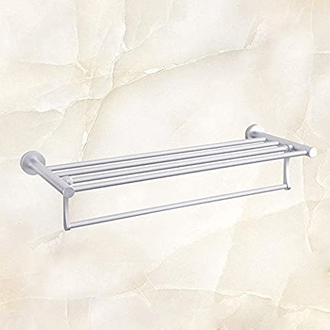 SDKKY Aluminium Handtuchhalter Raum, hochtemperaturbeständig Handtuchhalter, kein Rost farbecht Handtuchhalter, xzy -6899 stumme Weiß