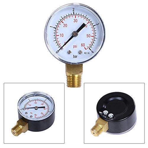 Demiawaking Filter Wasser Manometer 60 PSI Side Mount 1/4