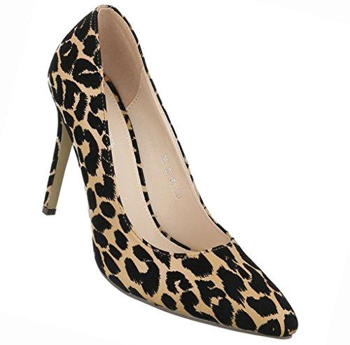 Damen Schuhe Pumps High Heels Stiletto Schwarz Modell NR2Schwarz