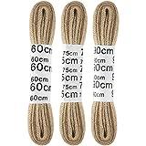 Schnürsenkel 3er-Pack Rundsenkel Flachsenkel, schlichte und unifarbene Allroundsenkel für nahezu jeden Schuh in vielen Farben erhältlich (Farbe: beige / Ausführung; 60cm/75cm/90cm - flach)