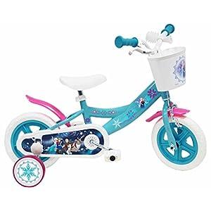 51 HQiehTTL. SS300 Disney 17266 - Frozen Bicicletta con Freno, 10 Pollici, 3-5 anni