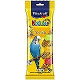 Vitakraft Budgie Kracker Bird Food Orange-Apricot/ Kiwi-Cit/ Sesame-Banana, Pack of 7