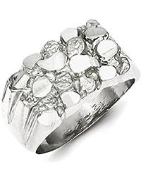 Plata de ley anillo de pepita de Hombre - tama?o de 1/2 - JewelryWeb owbpGB
