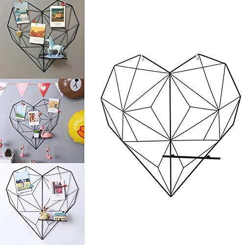 Gorgebuy love heart grid photo rack wall - pannello decorativo in ferro fotografia rack clip per ins art display family friends anniversary