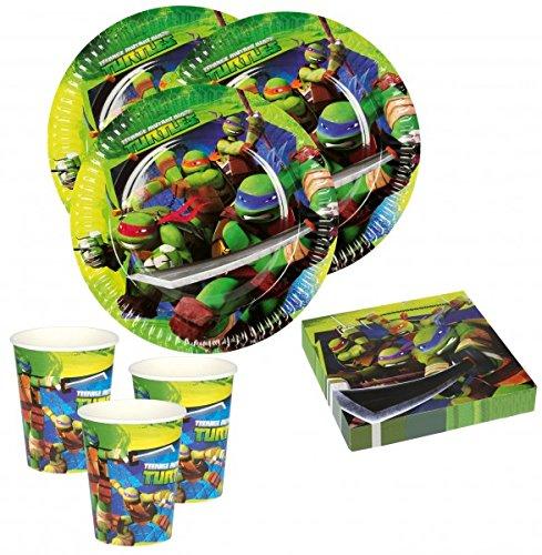 36 Teile Ninja Turtles Party Deko Basis Set - für 8 Kinder (Ninja Turtle Kid Kostüme)