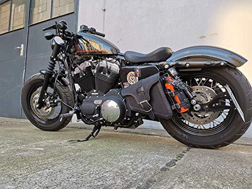 ORLETANOS EOS Black Seitentasche kompatibel mit Harley