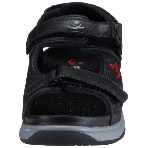 Chung Shi AuBioRiG Comfort Step TEXAS 9102115-10.0, Sandali unisex adulto Nero