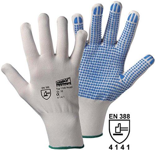 Gants de protection Leipold + Döhle 1145 100% nylon EN 388 RISQUES MECANIQUES 4141 Taille 7 (S)