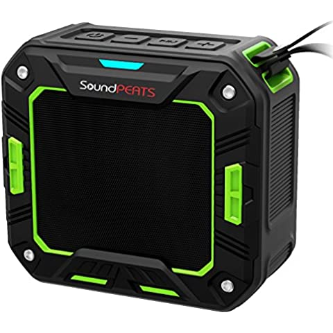 SoundPEATS Altavoz Bluetooth Portátil Impermeable, 5W de Potencia, Batería de 2000 mAh , Aporta Manos Libres para Ducha y Exterior, 10 Horas Larga Duración de La Batería ---P2