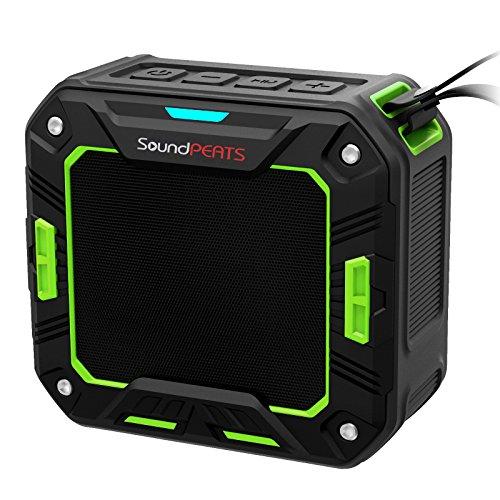 SoundPEATS Altavoz Bluetooth Portátil Impermeable, 5W de Potencia, Batería de 2000 mAh , Aporta Manos Libres para Ducha y Exterior, 10 Horas Larga Duración de La Batería ---P2 (Verde)