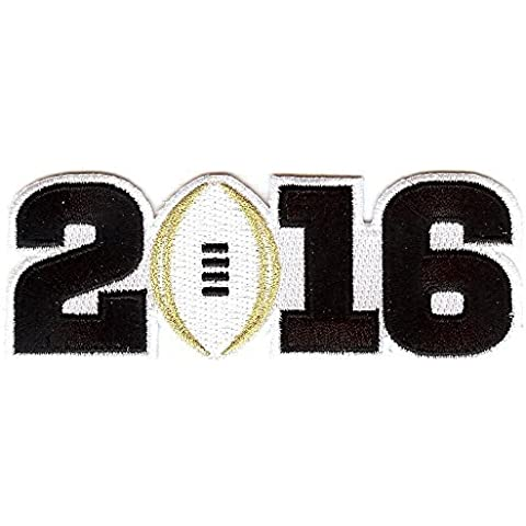 The Emblem Source 2016 College Football Playoff National Championship Game Jersey Patch, White by Emblem Source