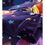 Best Chic Home Beddings - Outer Space Blue Stars Fleece Blanket Throw Review