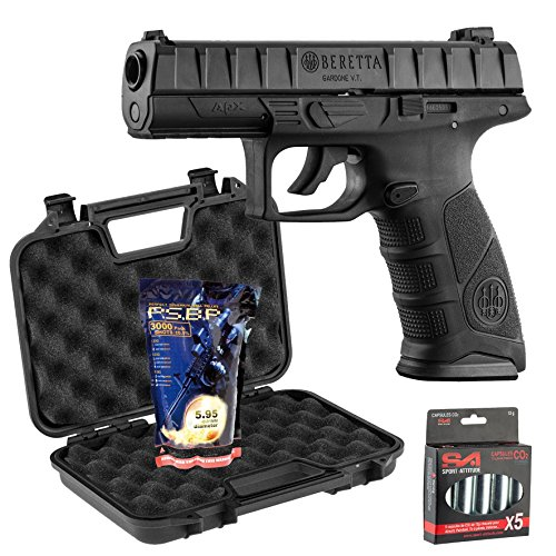 Pack Beretta Apx 0,5J - CO2 + mallette Noire + 5 capsules de CO2 + 3000 billes 0,25g G&G
