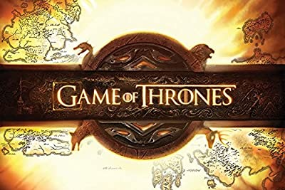 Maxi poster Game of Thrones Logo, bois, multicolore