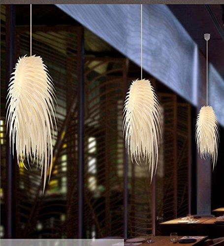 Moderne Lampe Anhänger Creative Federn PVC Fransen baumeln Kronleuchter E27 × 1 × 60 w Max für Salon Café Bar Gänge Balkon Kind Schlafzimmer Hotel Club [Energy-Klasse A ++] - Salon Deckenventilator