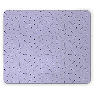 BAOQIN Mouse Pad,Dandelion Mouse Pad, Spring Flowering Plants Nature Floral Twigs Beauty of Spring Pattern, Standard Size Rectangle Non-Slip Rubber Mousepad, Lavender Dark Taupe