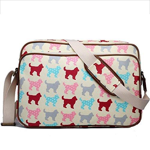 miss-lulu-matte-finish-oilcloth-cat-dog-galaxy-universe-satchel-messenger-bag-dog-beige