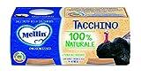Mellin Omogeneizzato di Tacchino 100% Naturale - 12  Vasetti da 80 gr