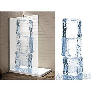 Interfoil Sichtschutz für Ihre Dusche Ice Duschkabine - Duschabtrennung, hochwertiger Druck auf Glasdekor -Folie in Sandstrahl -Optik mit satinierten Oberfläche