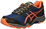 ASICS Herren Gel-Fujitrabuco 5 Traillaufschuhe, Mehrfarbig (Poseidon/Flame Orange/Safety Yellow), 40.5 EU