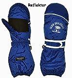 Unbekannt Thermohandschuh / Fausthandschuhe - mit langem Schaft -  dunkel blau  - Größ..