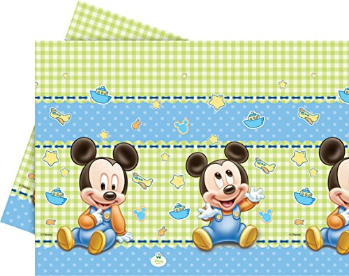 Kunststoff Baby Mickey Mouse Tischdecke, 1,8 m x 1,2 m (Supplies Geburtstag Party Mickey-mouse)