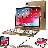 iPad Pro 11 2018 Keyboard, Snugg [Gold] Wireless Backlit Bluetooth Keyboard Case Cover