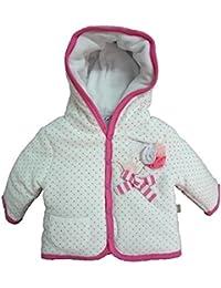 a5d1af53fb giubbotto neonata imbottito ciniglia con cappuccio BIDIBIMBO art. G 480  col. azalea pink