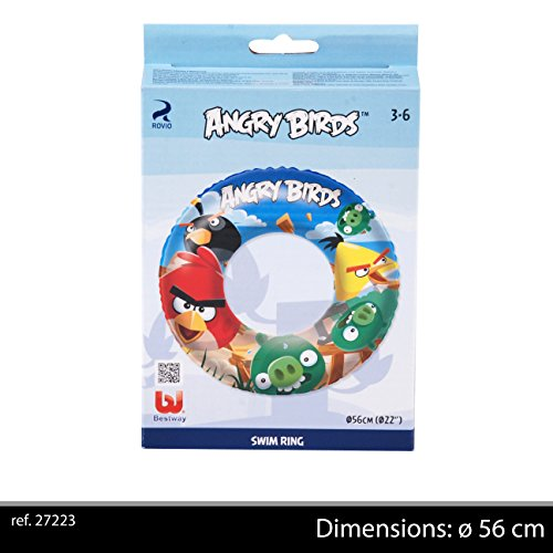 bestway-27223 Bouée Angry Birds Diam56, 27223, Mulicolore, 9-12 Mois - Version Anglaise
