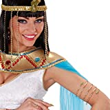 Schlangen Armband Cleopatra Armreif gold Ägypten Gold Schmuck Königin Schlangenarmband Antike Göttin Goldschmuck Orient Kostüm Accessoire