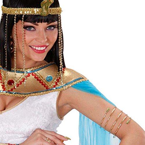Schlangen Armband Cleopatra Armreif gold Ägypten Gold Schmuck Königin Schlangenarmband Antike Göttin Goldschmuck Orient Kostüm Accessoire (Schlange Göttin Kostüm)
