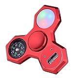 LEEHUR Fidget Spinner 4in1 mit Uhr, Kompass, LED, versch. Farben