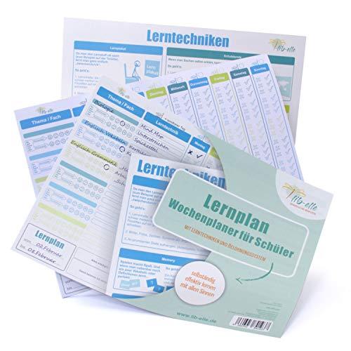 37 Lernplan - Schüler-Wochenplaner inklusive feste Karte mit Lerntechniken ()