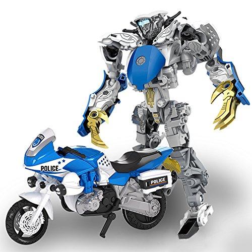 LanLan Auto Modelle 5 In 1 Transformation Roboter Stadt Sichere Team Polizei Auto Motorrad Hubschrauber Luftschiff SUV Motorcycle