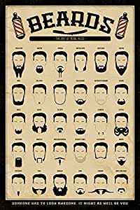 THE ART OF MANLINESS barbe), Poster, Affiche (61 cm x 91,5 cm
