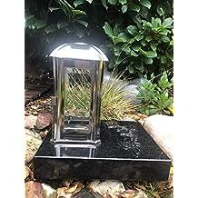 designgrab Lampen und Vasensockel eckig 20x20x6 cm aus Granit Olive green gr/ün f/ür Grabvase und Grablampen