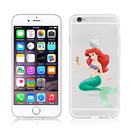 RONNEY'S Disney ARIEL Transparent TPU Soft case for Apple Iphone 7 ARIEL4