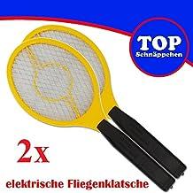 Trango 2er Pack elektrische Fliegenklatsche Fliegenfänger Mücken