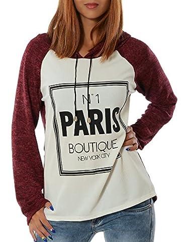 Damen Pullover (weitere Farben) No 13409, Farbe:Bordeaux;Größe:One Size