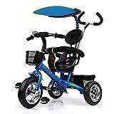 Kinderwagen 4 In 1Kids 'Trikes Abnehmbare Schirmüberdachung 12 Monate bis 5 Jahre einstellbarer Schiebegriff 2-Punkt-Sicherheitsgurt Kinder-Dreirad Vielseitige Dreiräder für Kinder...