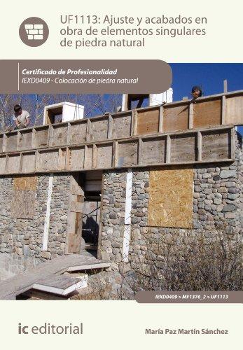 Ajuste y acabados en obra de elementos singulares de piedra natural. IEXD0409 (Spanish Edition)