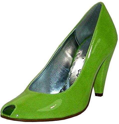 Andrea Conti Peep Toe Pumps Lack mintgrün Mintgrün