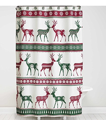 bath-lodge-cabin-nordic-xmas-winter-reindeer-snowflake-shower-curtain-hook-set-by-bed-bath-beyond