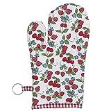 Clayre & Eef SAC44 Strawberries And Cherries 1 Küchenhandschuh Kochhandschuh Ofenhandschuh ca. 16 x 30 cm