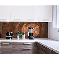 Cocina Pared Trasera Túnel de Madera Design M0773 180 x 60 cm (W x H