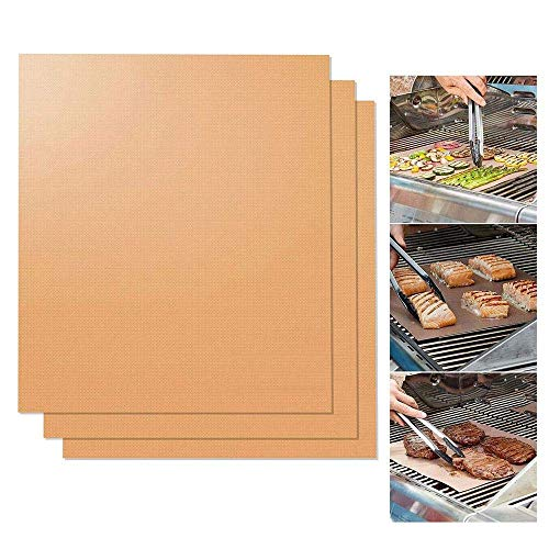 Copper Flat Bar (eujiancai Copper Grilling Mats, BBQ Copper Gill and Bake Mat-100% Non Stick, Reusable, FDA-Approved & Easy to Clean - Healthy Barbecue Gill Sheet-Works on Gas, Charcoal, Electric Grill and More (3pcs))