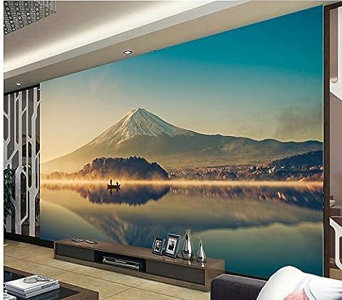 Lwcx sur mesure 3D Fond d'écran 3D pour la peinture de paysage du Mont Fuji Salle de bains Papier peint 3D C