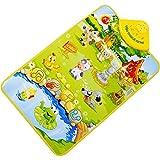 Amlaiworld Kinder Baby Bauernhof Tier musikalische Musik Touch spielen singen Gym Teppich Matte Spielzeug Geschenk