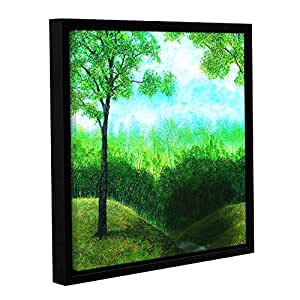 ArtWall Herb Dickinson's Nature Scene Christians Road Gallery Wrapped Floater Framed Canvas, 14 x 14""