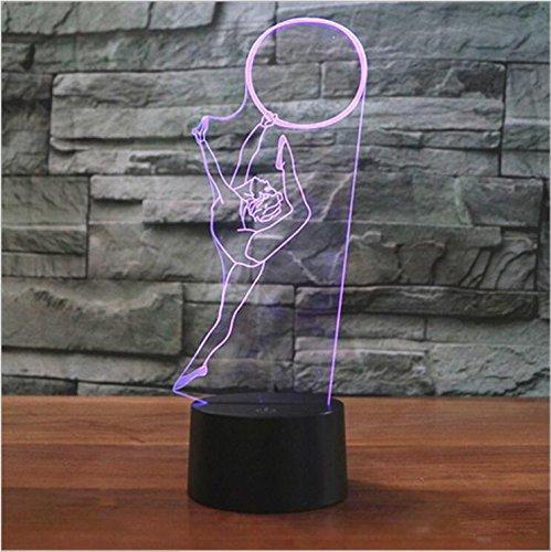 3D Turner Optische Illusions-Lampen, Tolle 7 Farbwechsel Acryl berühren Tabelle Schreibtisch-Nachtlicht mit USB-Kabel für Kinder Schlafzimmer Geburtstagsgeschenke Geschenk